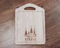 Personalised Christmas Tree Chopping Board With Handle